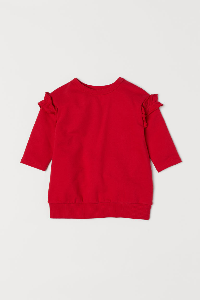 Sweatshirt dress - Red - Kids | H&M CN