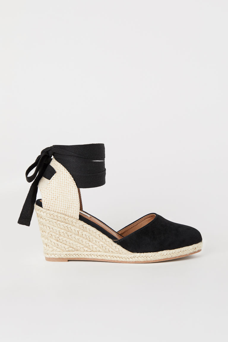 Suede sandals - Black - Ladies | H&M