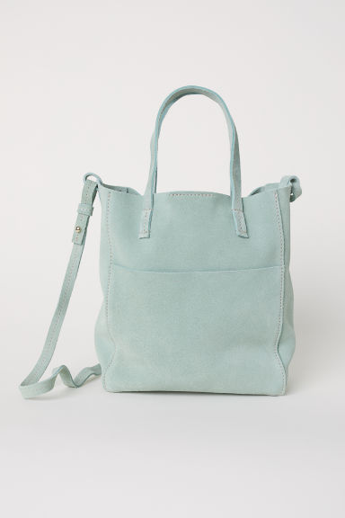 Small suede shopper - Mint green -  | H&M CN
