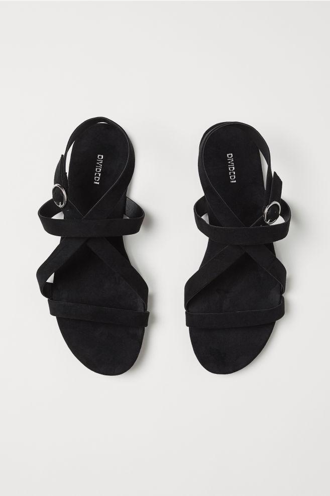 9fdc18f717807 Strappy sandals - Black -   H&M ...