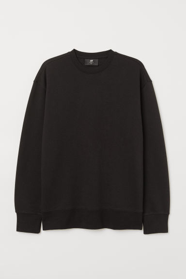 Sweatshirt Loose fit - Black - Men | H&M IE