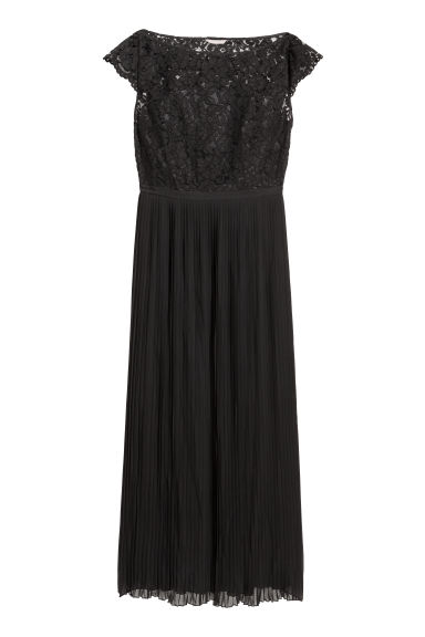 H&M+ Chiffon dress - Black - Ladies | H&M IE