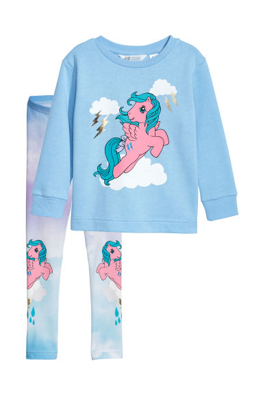 Felpa e leggings - Blu/My Little Pony - BAMBINO | H&M IT