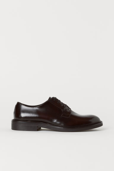 Leather Derby shoes - Oxblood red - Men | H&M CN