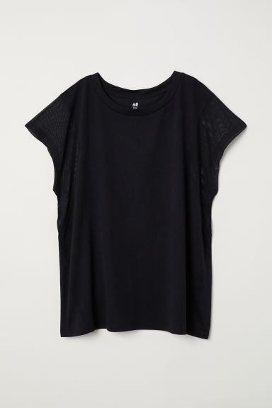 Wide-cut Sports Top - Black - Ladies | H&M CA