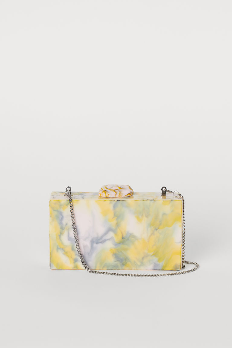 Marbled clutch bag - Light yellow/Marbled - Ladies | H&M