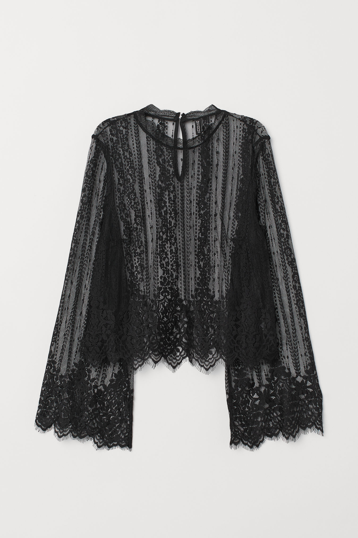 0bcf7477395906 Lace Blouse - Black -