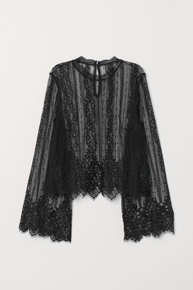 Lace blouse - Black -  | H&M GB