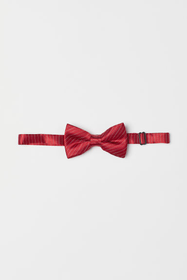 Satin bow tie - Red/White striped - Men | H&M CN