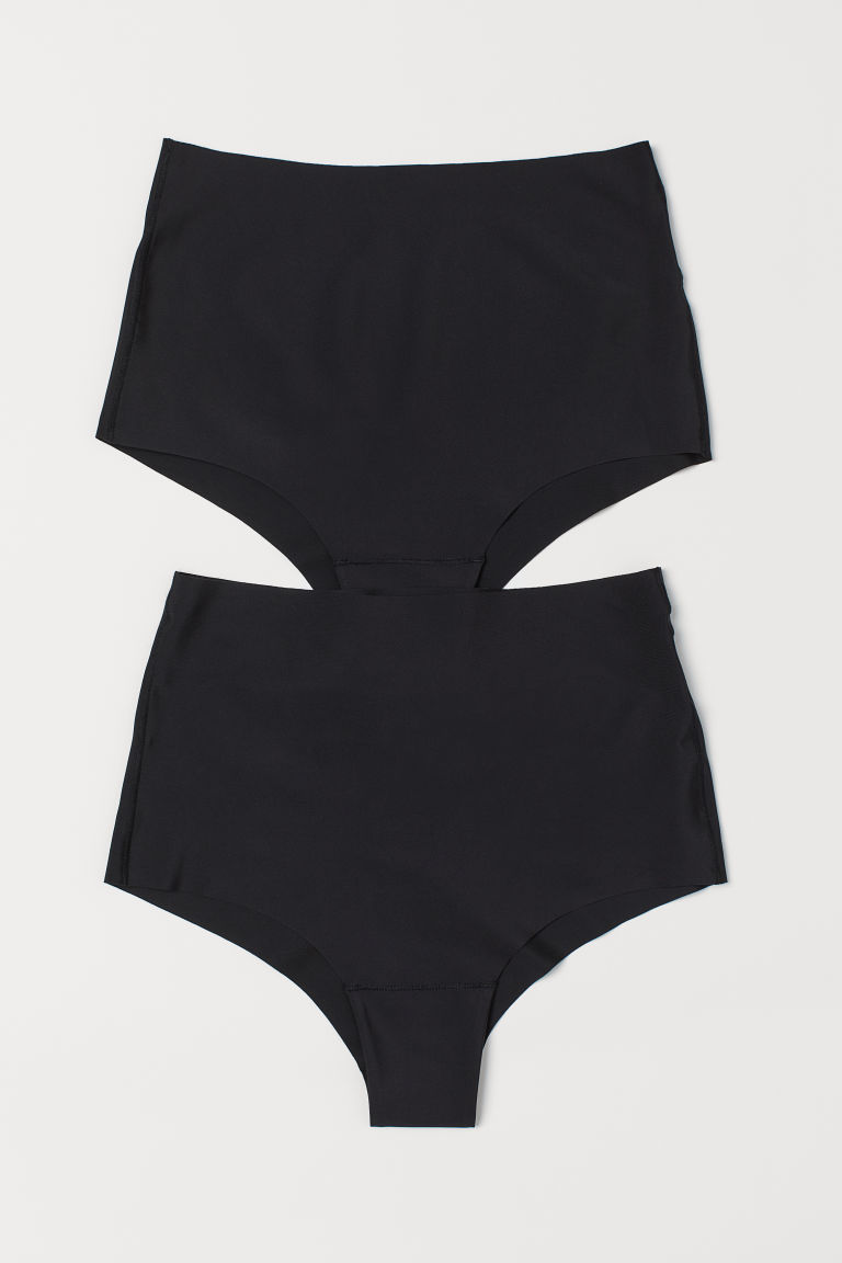 2-pack Light Shaping Briefs - Black - Ladies | H&M CN