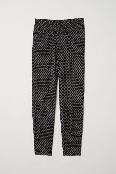 MAMA Jersey trousers - Black/Patterned - Ladies | H&M
