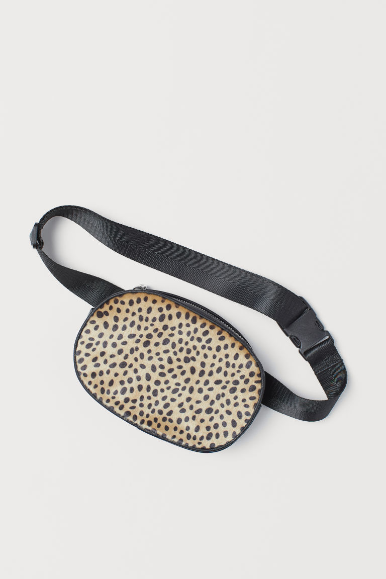 Waist bag - Black/Cheetah print - Ladies | H&M