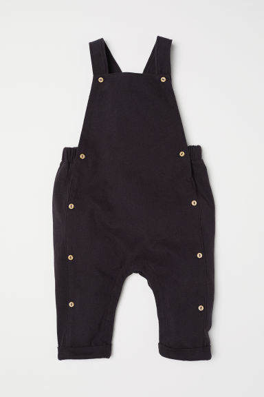 Cotton dungarees - Dark grey - Kids | H&M