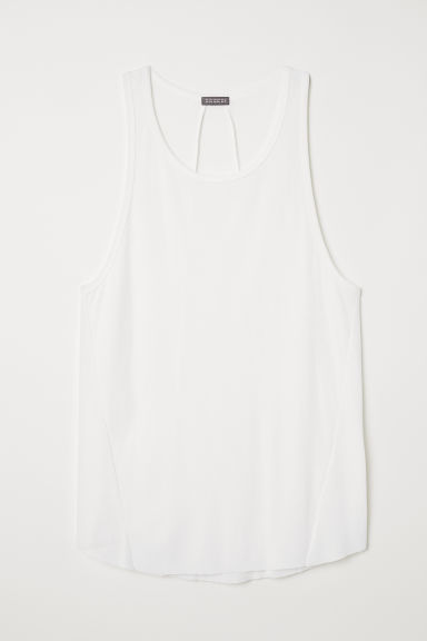 Lange tanktop - Wit - HEREN | H&M BE