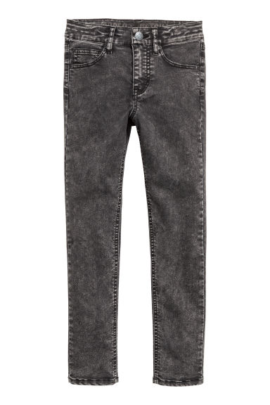 Superstretch trousers - Black/Washed out - Kids | H&M CN
