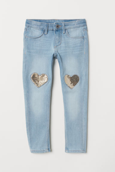 Skinny Fit Jeans - Light denim blue - Kids | H&M CN