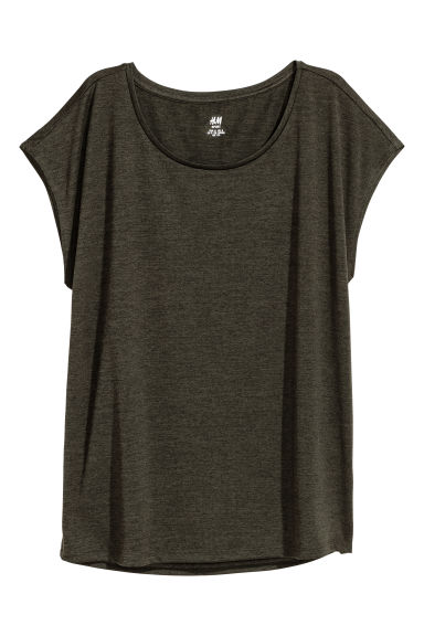 Sports top - Dark green - Ladies | H&M