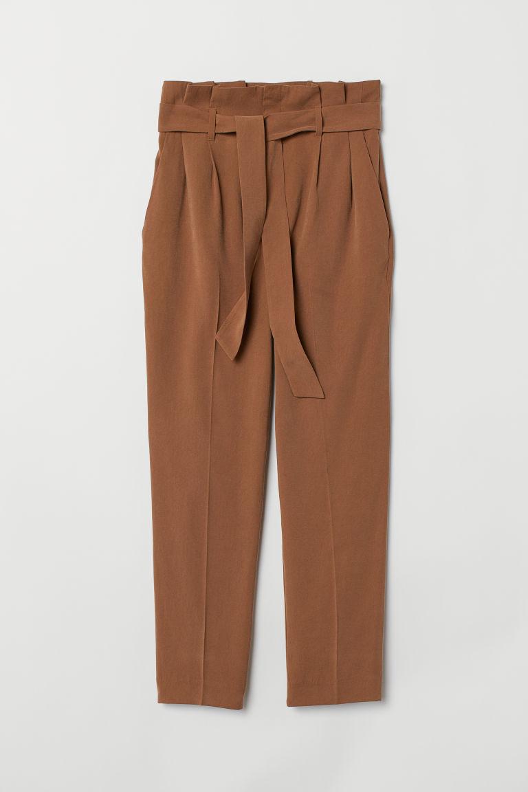 53b00ee8fd8 Paper-bag Pants - Brown - Ladies
