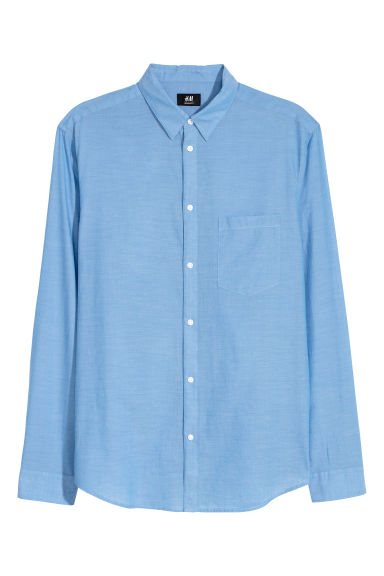 Katoenen overhemd Regular fit - Blauw - HEREN | H&M NL