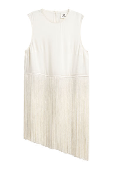 Top with fringing - Natural white - Ladies | H&M