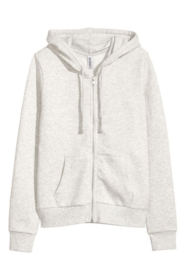Hooded jacket - Grey marl -  | H&M