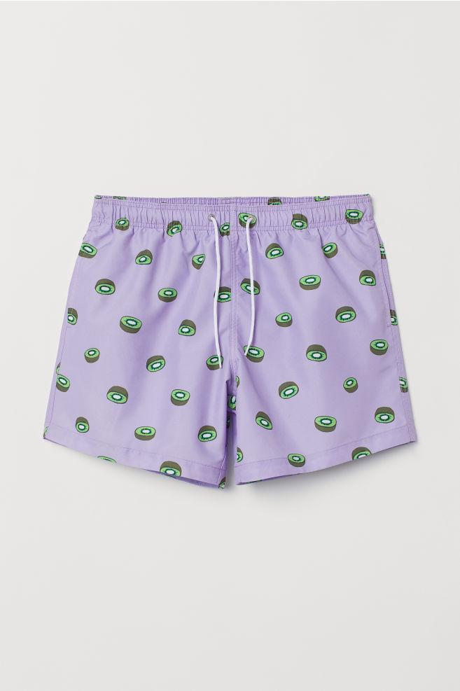 cd08ae4c2b202e Printed Swim Shorts - Purple/kiwis - Men | H&M ...