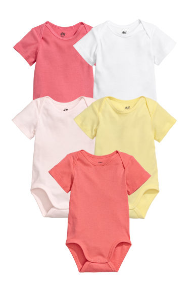 5-pack bodysuits - Pink - Kids | H&M IE