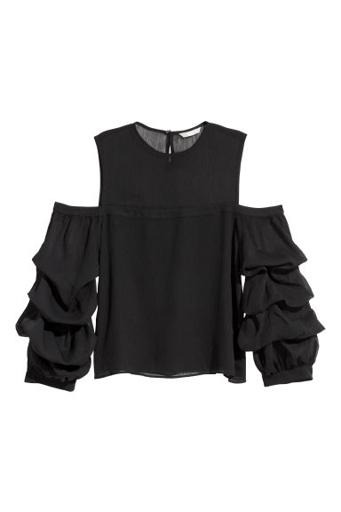 Top in chiffon - Nero - DONNA | H&M IT