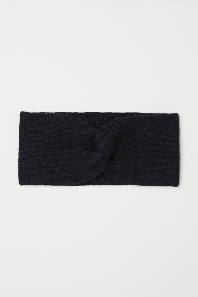 Knit Headband - Black - Ladies  92d994c99e