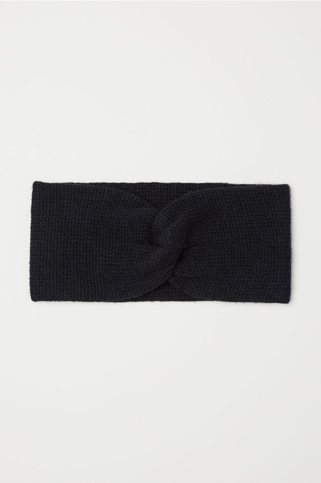 Knit Headband - Black - Ladies  db4b834b38
