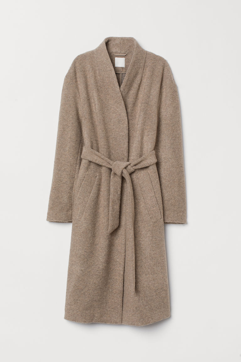 Coat with a tie belt - Mole - Ladies | H&M CN