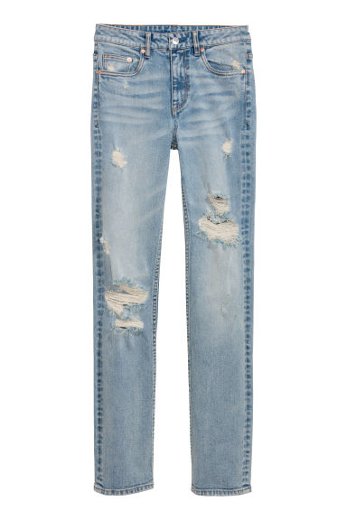 Straight High Jeans - Blu denim chiaro -  | H&M IT