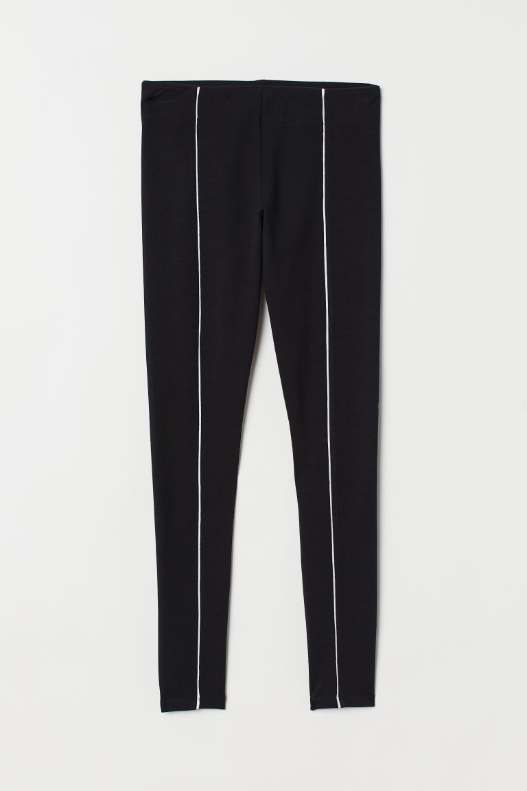 Leggings - Black/white -  | H&M US