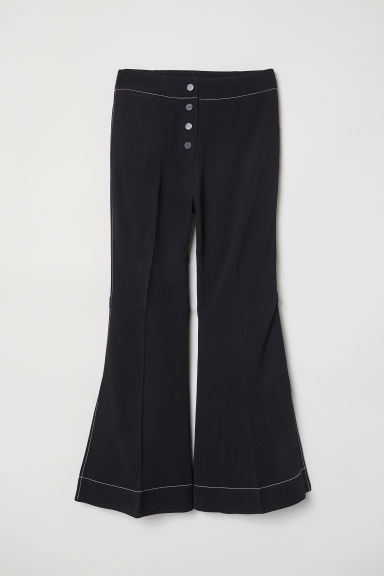 Pantaloni Kick-flare - Nero - DONNA | H&M IT