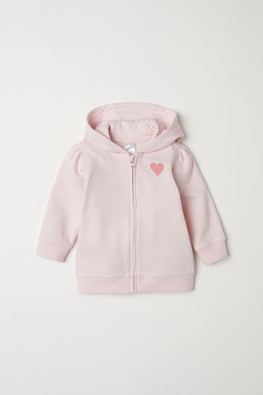 Hooded jacket - Light pink/Heart -  | H&M