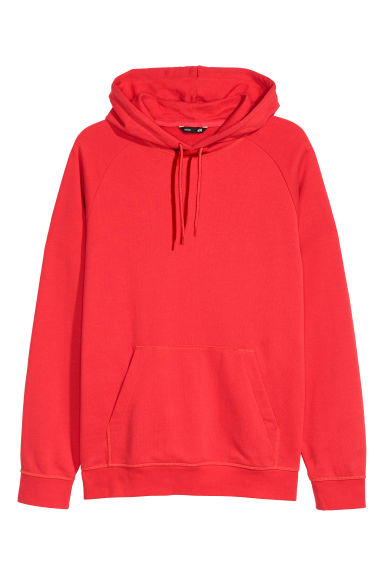 Sweat à capuche - Rouge - HOMME | H&M FR