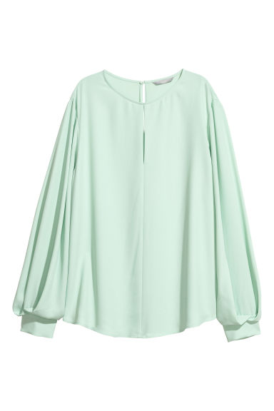 Blouse - Light green - Ladies | H&M