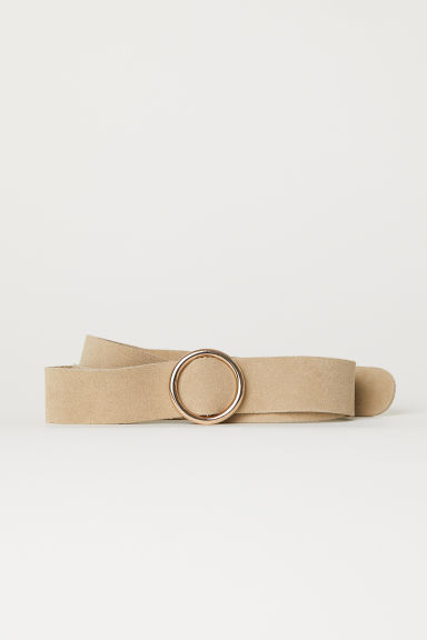 Suede belt - Light mole -  | H&M