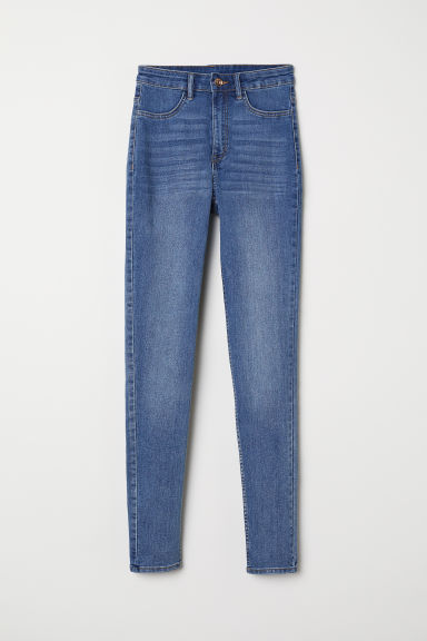 Super Skinny High Jeans - Denimblauw - DAMES | H&M BE