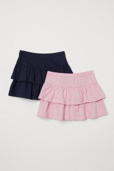 2-pack frilled skirts