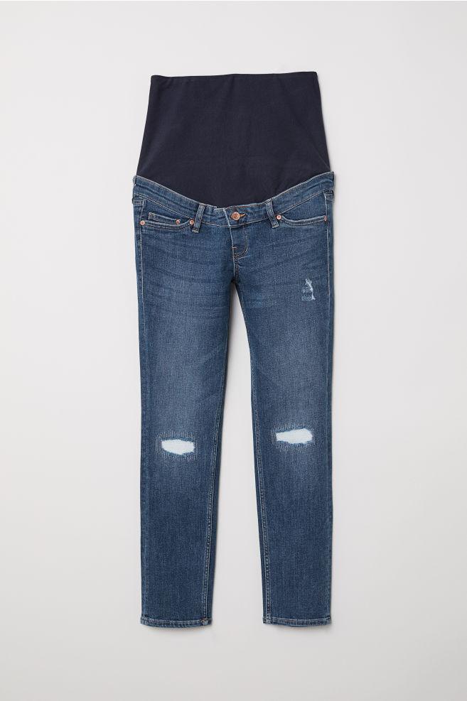 90ac79dce36ed MAMA Skinny Ankle Jeans - Denim blue/Trashed - Ladies | H&M ...
