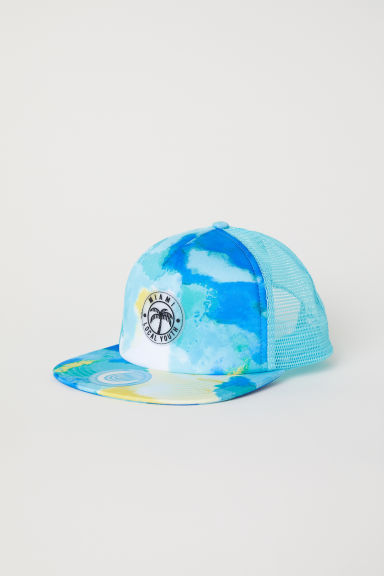 Cap with an appliqué - Light turquoise -  | H&M CN