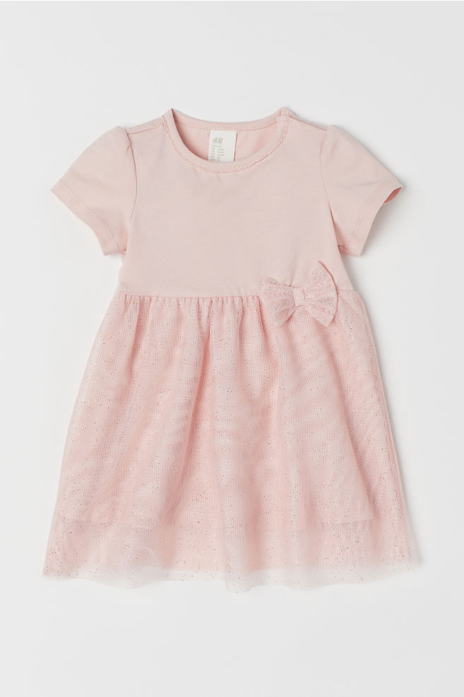 Klänning med tyllkjol - Ljusrosa - BARN  452c9a1615d6f