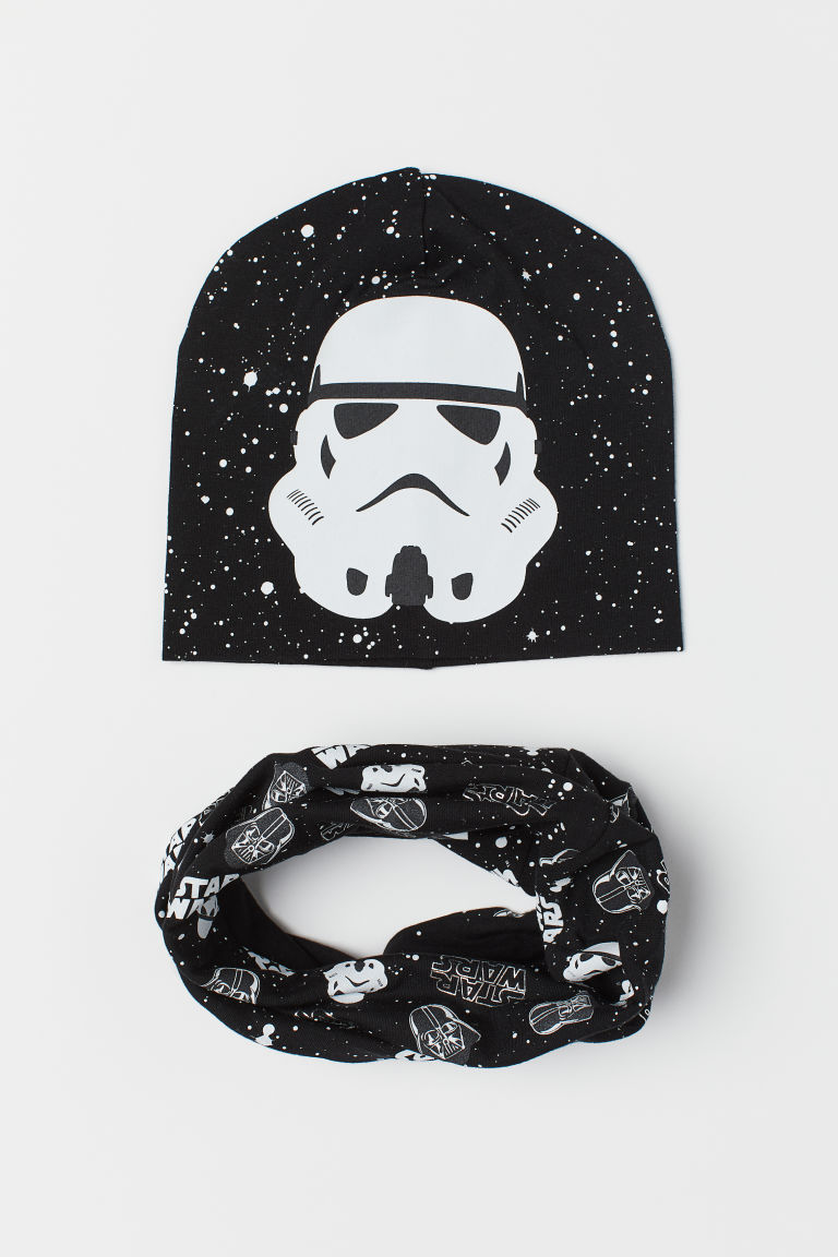 Hat and Tube Scarf - Black/Star Wars -  | H&M US
