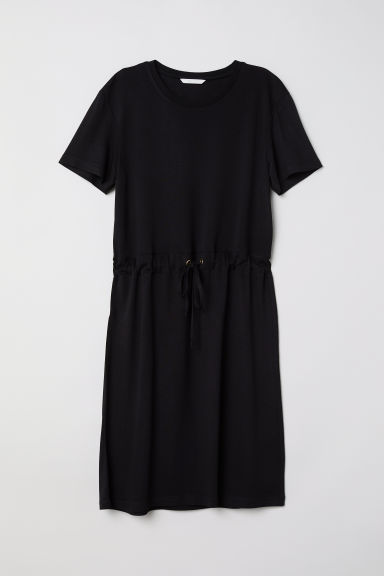 Abito in jersey con coulisse - Nero - DONNA | H&M IT