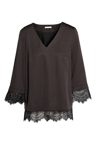MAMA Nursing blouse - Black - Ladies | H&M