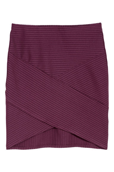 Fitted skirt - Dark purple - Ladies | H&M