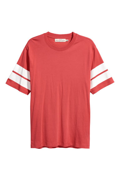 Printed T-shirt - Red - Men | H&M IE