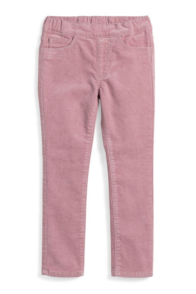Corduroy treggings - Old rose - Kids | H&M CN