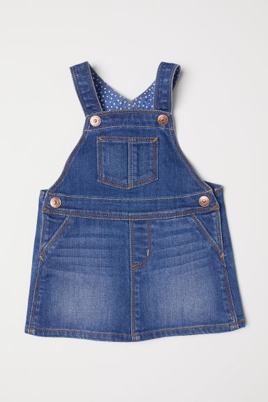 Denim dungaree dress - Denim blue - Kids | H&M